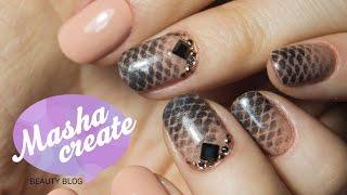 Коррекция Гель Лака + Дизайн ногтей с Пигментами и Стразами на ногтях :)