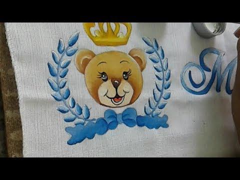 Tutorial Pintando O Ursinho Principe Parte 1 Geane Youtube
