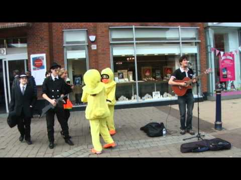 Alderbrook School dance with solihull busker