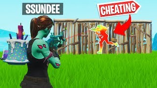 CHEATING W/ SSUNDEE in FORTNITE