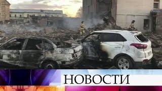В Гатчине спасатели всю ночь разбирали завалы на месте взрыва на заводе пиротехники.