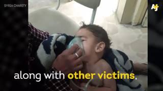Child Panics after Chlorine Gas Attack