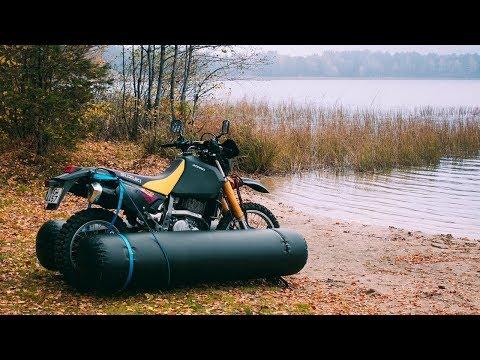 Утонет или нет? Мотоцикл-Амфибия своими руками!