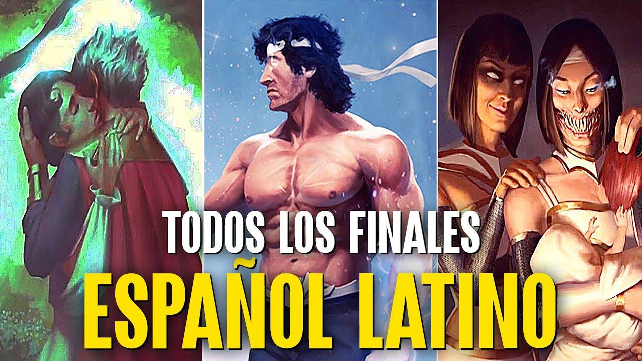 RAMBO - MILEENA - RAIN /TODOS SUS FINALES En Español Latino MORTAL KOMBAT 11 ULTIMATE Kombat Pack 2