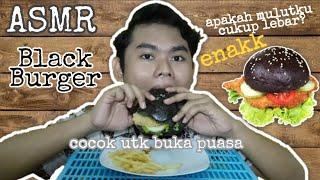 BUKA PUASA BLACK BURGER/BURGER HITAM | ASMR INDONESIA
