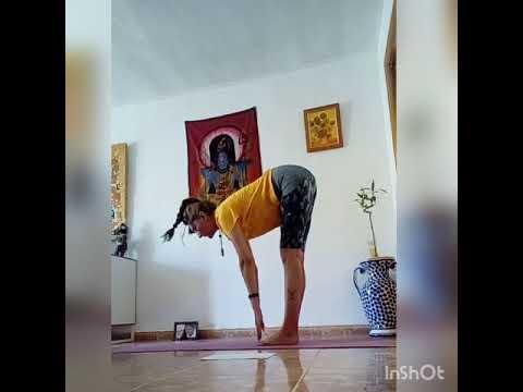práctica preparatoria de pranayama guerreros triángulo y