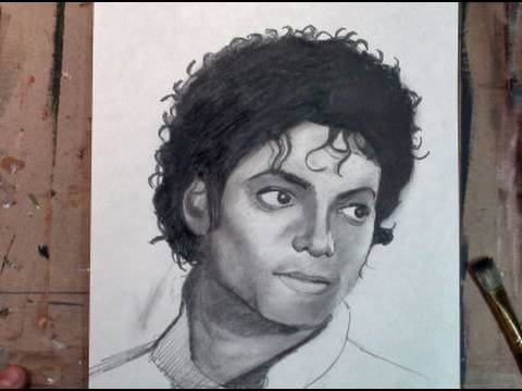 How to draw michael jackson step by step pencil drawing tutorial