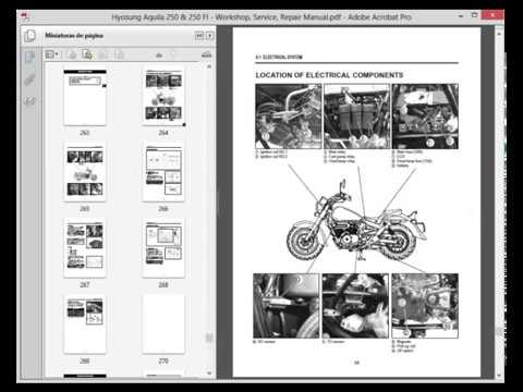 Hyosung Aquila 250 and 250 FI - Service Manual - Wiring Diagram - YouTube | Hyosung Gv250 Wiring Diagram |  | YouTube