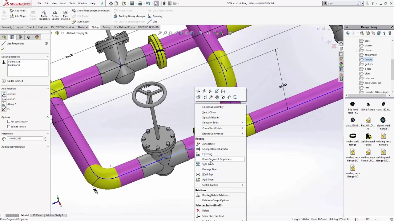 medium resolution of solidworks routing pipe 101
