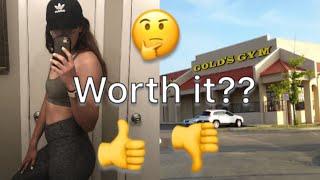 I got a gold's gym membership | Why I got a gym membership | Is it worth it?
