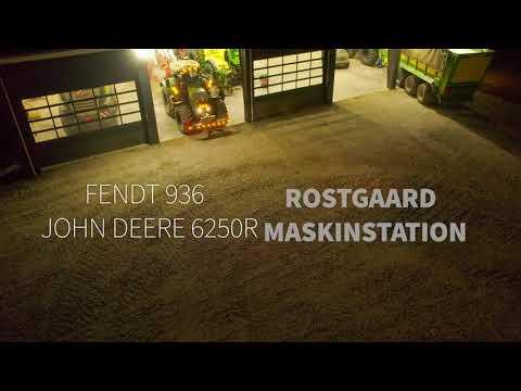Download FENDT 936 + JOHN DERRE 6250R PLOUGHING IN THE DARK (4K) ROSTGAARD MASKINSTATION