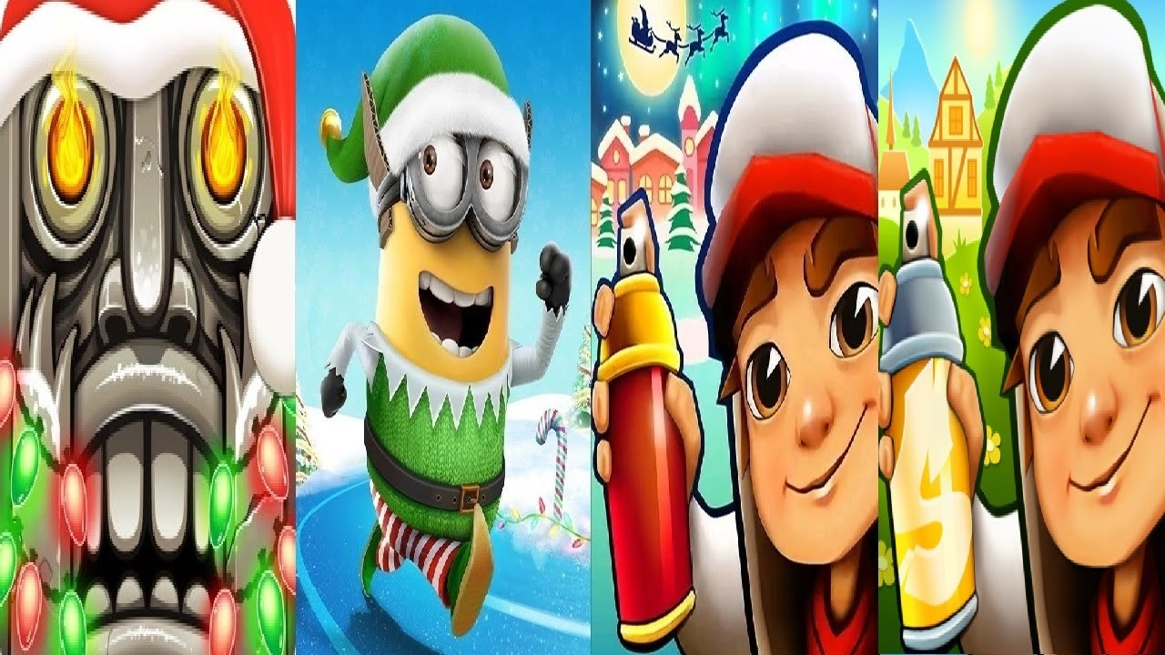 Subway Surfers Winter Holiday Christmas 2019 VS zurich 2020 Despicable Me  Minion Rush Temple Run 2