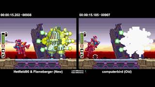 [TAS Comparison] Mega Man Zero 2 - New (Hetfield90 & Flameberger) vs Old (compterbird)
