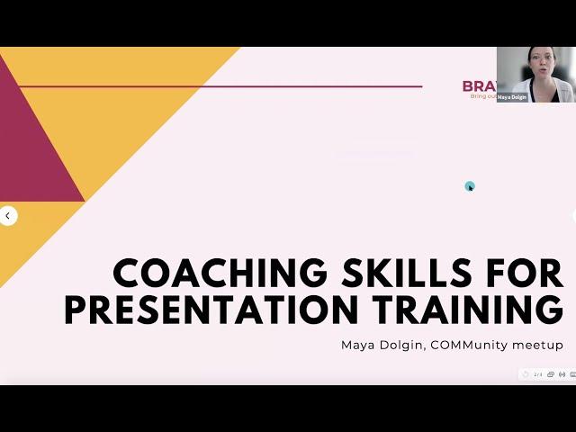 4 Essential Coaching Skills for Presentation Training