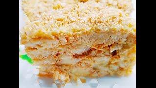 Я В ВОСТОРГЕ, рецепт на все 100% БЕЗ ВЫПЕЧКИ. Торт за 5 минут. Наполеон без духовки и сковороды.