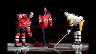 David Puddy pumps up Devils for ceremonial face-off