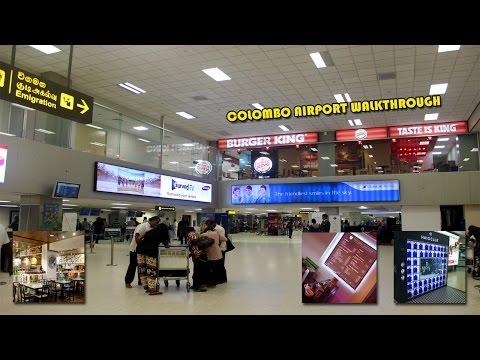 Colombo Airport Walk Through (Bandaranaike International), Srilankan Airlines, Singapore Airlines