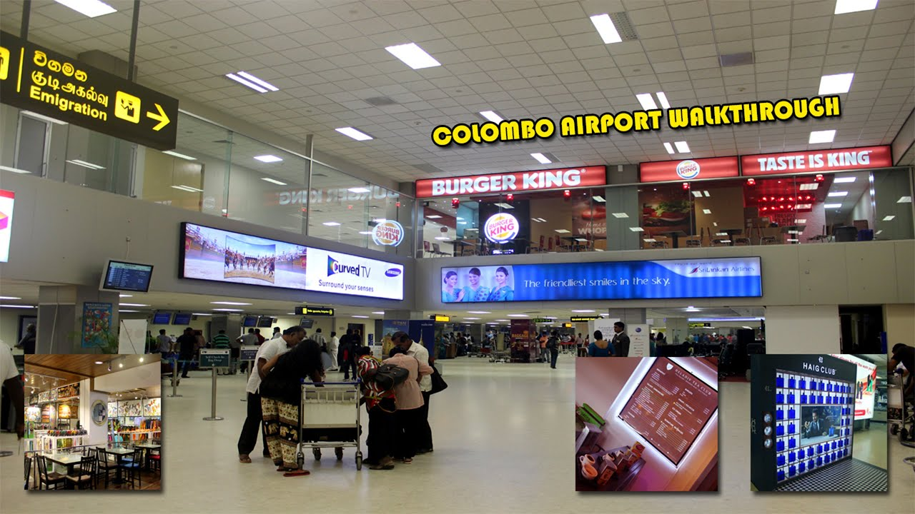 Colombo airport walk through bandaranaike international - Sri lankan passport office in colombo ...