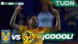¡Gool de Aquino¡ Tigres tiene vida  Tigres 1 - 3 América   Liga Mx - AP 19 - 4tos de final   TUDN