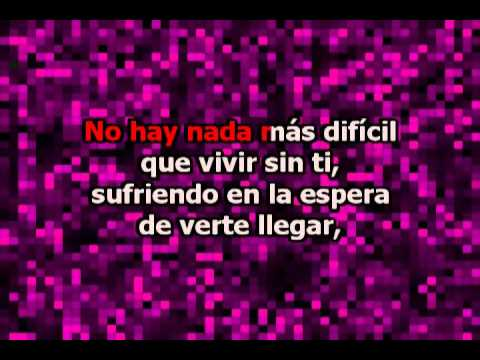 Si No Te Hubieras Ido (con Letra) - Marco Antonio Solis Karaoke