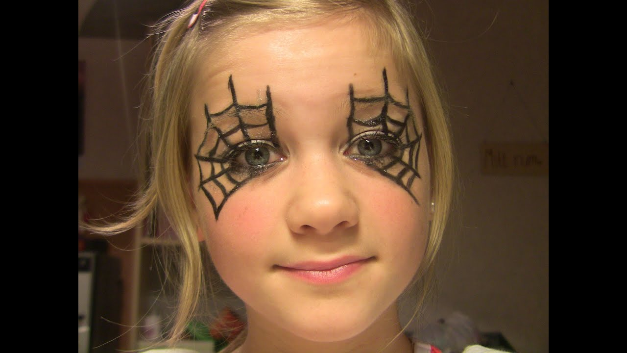 Halloween Makeup - Spider Web tutorial - YouTube