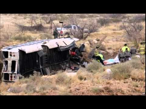 Ten dead as Texas prison bus collides with train