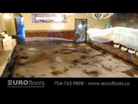 Stained Concrete & Logo Installation by EUROfloors