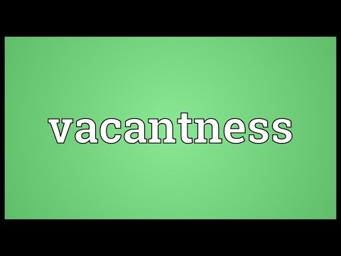 Header of vacantness