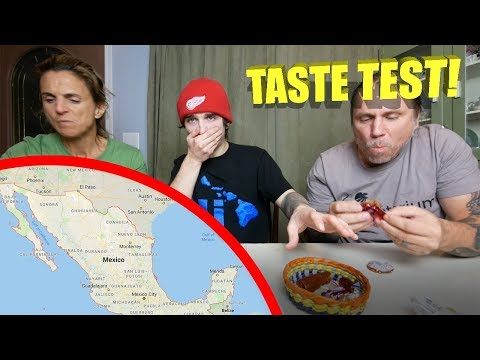 MEXICAN Candy TASTE TEST!! (WITH The FAM!)