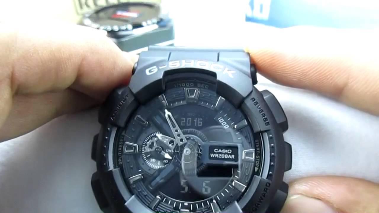 G Shock Ga 110 Configuracion 1 5 Fecha Hora Luz Youtube