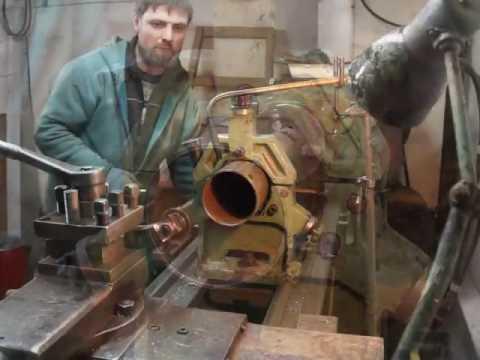 Как развальцевать трубу на токарном станке 1к62 Дип 200.