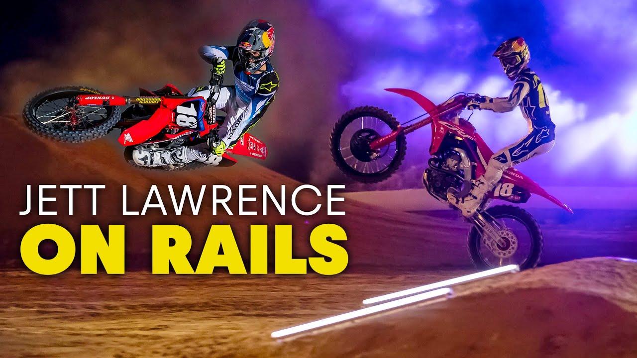 Jett Lawrence on rails!
