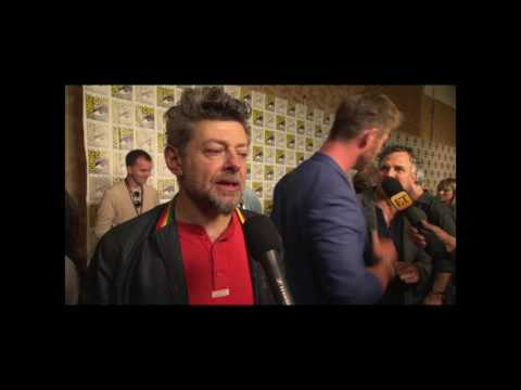 Andy Serkis Interview On Black Panther Trailer and San Diego Comic Con Hall H Reaction #SDCC