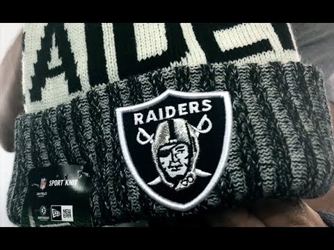 wholesale dealer 53af0 60bf2 Raiders  2017 STADIUM BEANIE  Black Knit Hat by New Era