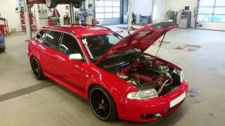 Audi RS4 b5 Avant Quattro with 5cyl 2.5 20vt 940hp/980nm 751.2whp/782.9wnm at 2.3bar of boost E-85