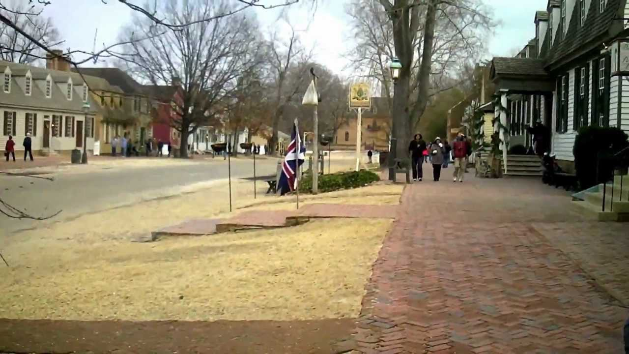colonial williamsburg va dec18 2011 christmas decorations youtube