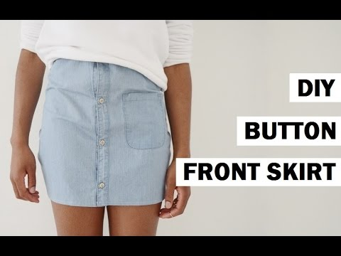DIY TRANSFORMATION | BLOUSE INTO BUTTON FRONT SKIRT