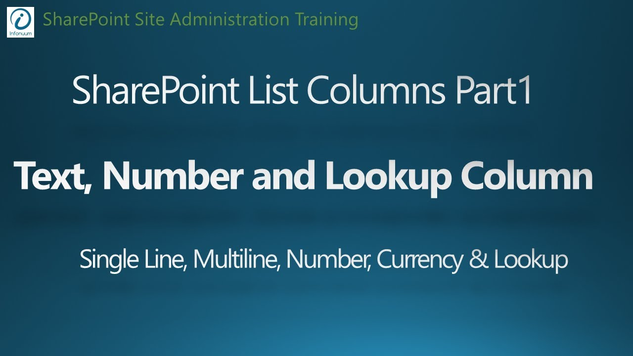 SharePoint 2016 Tutorial - Add List Columns Part 1