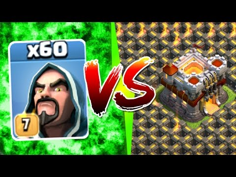 Clash Of Clans - INSANE ALL LEVEL 7 WIZARD ARMY Vs TOWN HALL 11! - NEW UPDATE GEM SPREE!