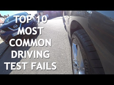 Top 10 Most Common Driving Test Fails