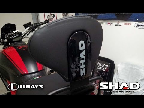 project diavel - shad backrest installation on ducati diavel - youtube