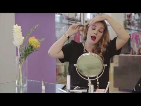 Drew Barrymore Gives 90s Beauty Tips