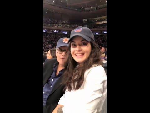 Sofia BlackD'elia at the Detroit Pistons vs New York Knicks Game March 31