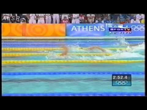 4x100 freestyle relay women - Athens 2004 - new record