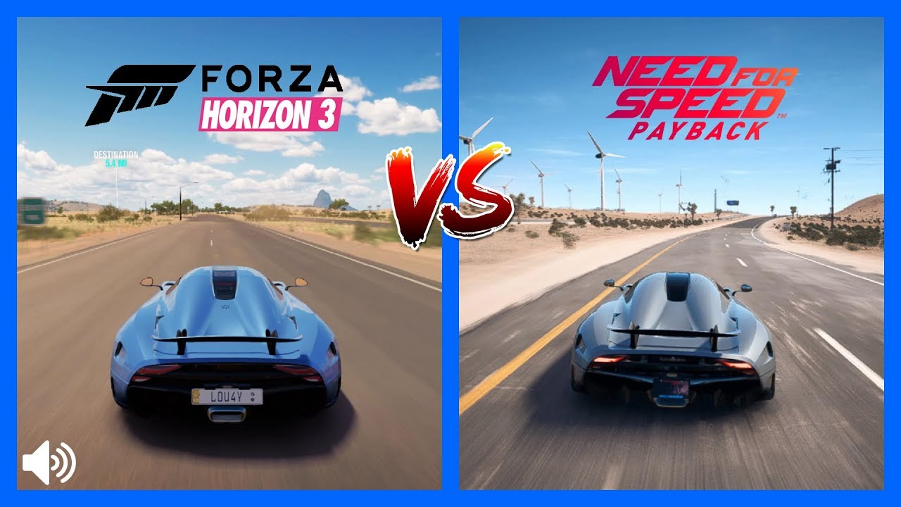 Forza Horizon 3 Vs NFS PayBack Koenigsegg Regera Sound Comparison