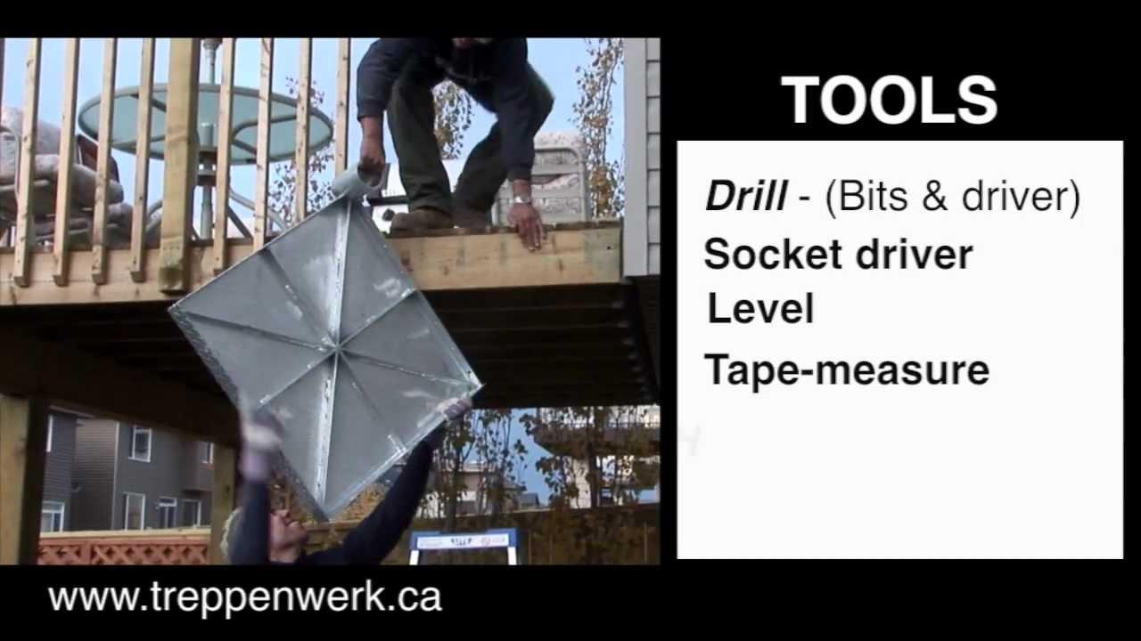 Installing Spiral Staircase Kit / Spiral Stair / U0026 Stair Builders By  Treppenwerk
