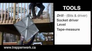 Installing Spiral Staircase Kit / Spiral Stair / & Stair Builders  By Treppenwerk