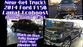 Tuxedo Black Ford F150 Lariat Twin Turbo Ecoboost 4x4 - First Mod: Tint (ALL GLASS)