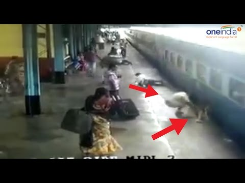 Maharashtra cop saves woman from fatal accident at railway station, Watch Video | Oneindia News
