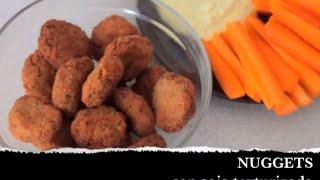 Nuggets vegetales con soja texturizada [receta vegana]